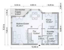 einfamilienhaus grundriss erdgeschoss mit erker wohn und