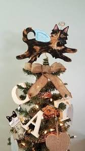 Cat Christmas Tree Toppers Holidays Decorations Angel Traditional Tortoiseshell