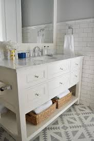 white and gray bathroom with cement tile shop tulum tile