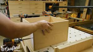 building a computer desk diy desk pc part 2 u2014 crafted workshop