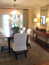 Dining Room Chair Covers Slipcovers Skirt Example Set Of 6
