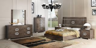 Contemporary Bedroom Set Italian Platform Black Modern