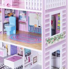 Free Shipping Ready Stock Pink Girls Dream Villa DIY Doll House Decors For Barbie 3D Play Set Toys Pink