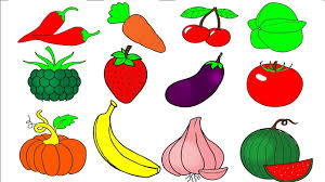 Fruit Coloring Pages Learn Colors For Kids And Color Vegetables Book