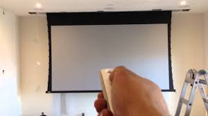 in ceiling projector screen youtube