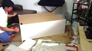 Ikea Malm 6 Drawer Dresser Package Dimensions by How To Assemble A Chest Drawer Time Lapse Youtube