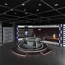 Virtual TV Studio News Set 11 SceneScaleready