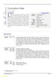 Resume Templates 2 Columns Unique 23 Column Template Free Sample