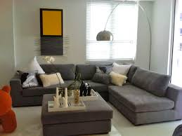 grey couch living room interior design
