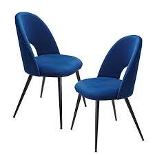 finebuy esszimmerstuhl 2er set samt blau küchenstuhl mit schwarzen beinen schalenstuhl skandinavisches design polsterstuhl mit stoffbezug stuhl