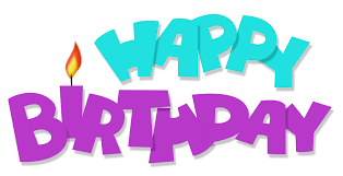 Happy Birthday Transparent Blue and Purple PNG Picture