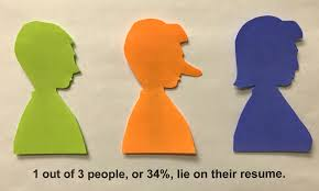 1 Out Of 3 People Lie On Their Resume - Amtec Should You Fess Up To Your Boss Or Hr If Lied On The Top 5 Reasons You Cant Lie On Your Resume Talentegg Catching Lies In The Hiring Process What Happens When Palmer Group Dont Lie Cv Untrue Credentials Can Land A Can Get Away With Lying Ulearning Inglish Resume 3 Ways Proceed When Lied Wikihow Steve Blank