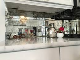 Mirror Tiles 12x12 Beveled Edge by Antique Mirror Backsplash Installed