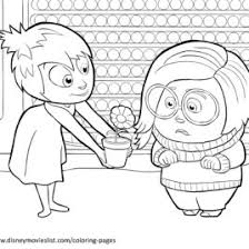 Disneys Inside Out Coloring Pages Sheet Free Disney Printable