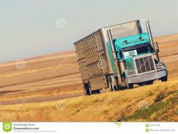 Semi Truck On Prairie Road Stock Photo. Image Of Duty - 107017796