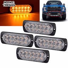 6 LED Strobe Lights For Trucks Cars Van With Super Bright Amber ...