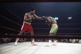 Sugar Ray Floored Zip by Ali Frazier I The Slugger Vs The Boxer Si Com