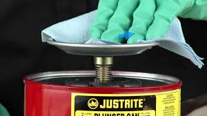 Flammable Liquid Storage Cabinet Grounding by Plunger Cans By Justrite Youtube