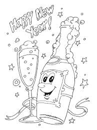 Party Happy New Year Eve Coloring Pages