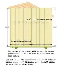 side wall siding saltbox shed plans page 9