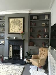 Overatkates Farrow And Ball Moles Breath Victorian Living Room Shelf