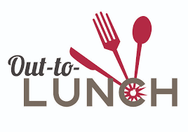 Out To Lunch Clip Art Vector Sign Black Image On