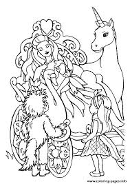 The Barbie And Unicorn Princess Coloring Pages