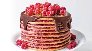Chocolate Frosted Vanilla Raspberry Cake
