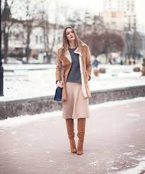 70s Inspired Style Nika Huk Is Wearing A Shearling Coat From Forever 21