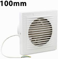 vingo badluefter 100 mm wandluefter ventilator luefter fuer bad wc kueche wandventilator badezimmer wand niedrigem energieverbrauch weiss