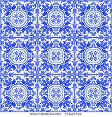portuguese azulejo tiles blue white gorgeous stock photo 555428809