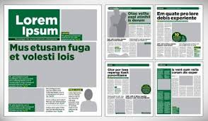 Graphical Design Newspaper Template Illustration