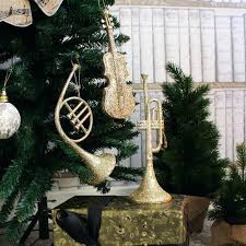 Musical Instruments Christmas Ornaments Set Of 3 Instrument Tree Decorations
