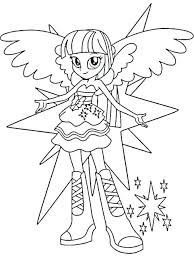 My Little Pony Unicorn Coloring Pages Color Sheet