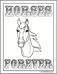 Horse Coloring Page Riding Showing Galloping