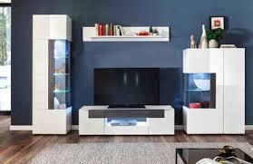 trendteam wohnwand tokyo set 4 tlg 4 teiliges set den tv aufsatz ist separat bestellbar 46475419