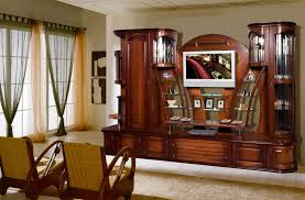 Wood Living Room Furniture With Graceful Design Ideas Which Gives A Natural Sensation For Comfort Of 17