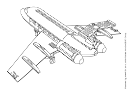 Plane 53 Transportation Printable Coloring Pages