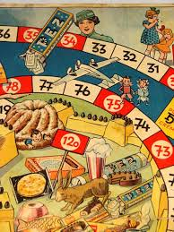 1930s PEZ Game Board Adorable Embellishment For Vintage Childhood Scrapbook Pagesoo