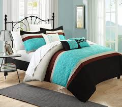 Black Wooden Bed With White Bedding Black Iron Bedside Table With