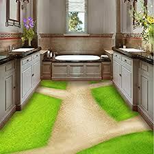 rureng badezimmer grüne wiese kleine straße 3d boden