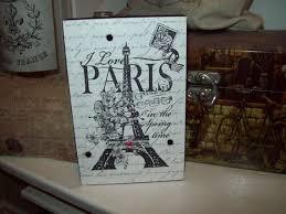 EIFFEL Tower Block Sign PARIS DecorParis ThemeParis Bedroom Nursery Birthday Baby Shower