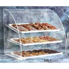 Countertop Bakery Display Case Front Rear Access Doors With Curved