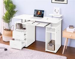 großhandel wesentliches home office computer schreibtisch pull out tastaturablage schubladen wohnzimmer dekoration möbel schneller versand