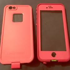 iPhone 6 6s Pink LifeProof case Gently used pink iPhone 6 6s case