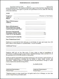 Standard Terms And Conditions For Services Template Live Performance Contract Simple Musiccontracts Musical