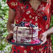 half cake mit heidelbeeren