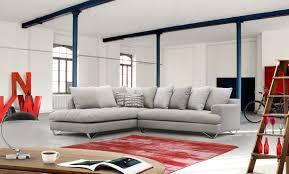 canap d angle fixe canapé d angle fixe 5 6 places en tissu gris canapés