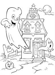 Print Halloween Printable Coloring Pages Haunted House Or Download
