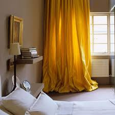Yellow Silk Drapes I Think Theyd Be Just Perfect In My Dining Room To Carry Over The Canary Accents Living And Office Space